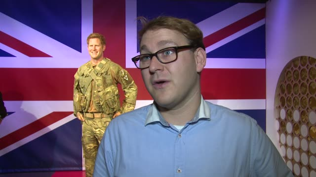 interview matthew clarkson on the process and history of royal waxworks and a future prince george model at the unveiling of madame tussards new... - メリルボーン点の映像素材/bロール