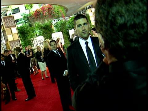 matthew fox standing on crowded red carpet at beverly hilton hotel talking to press, back of male camera man fg . - beverly hilton hotel bildbanksvideor och videomaterial från bakom kulisserna