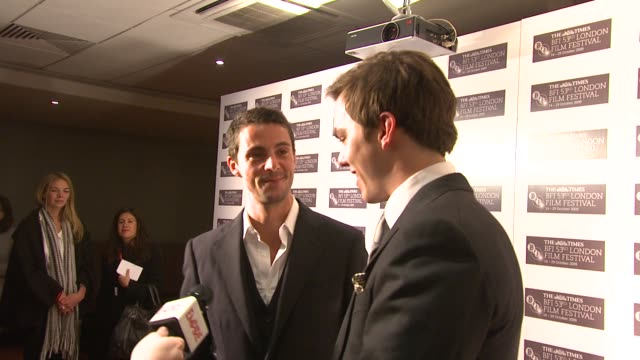 matthew goode and nicholas hoult at the a single man premiere london film festival at london england - matthew goode stock videos & royalty-free footage