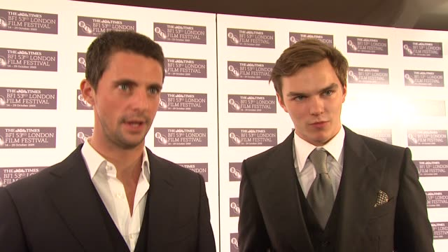 matthew goode and nicholas hoult on the clothes auditioning for the film on meeting colin firth on being spray tanned with colin firth at the a... - matthew goode stock videos & royalty-free footage