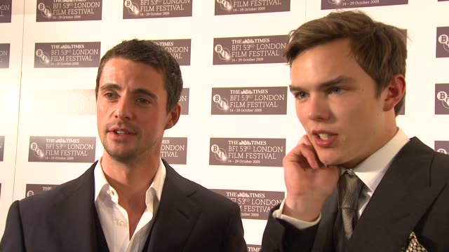 matthew goode and nicholas hoult on working with tom ford on working with colin firth on colin being very funny at the a single man premiere london... - matthew goode stock videos & royalty-free footage