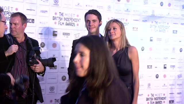 matthew goode and sophie dymoke at the moet british independent film awards at london england - matthew goode stock videos & royalty-free footage