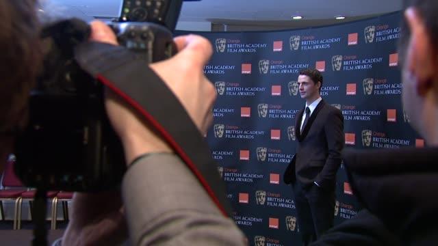 matthew goode at the 2010 orange bafta nominations at london england - matthew goode stock videos & royalty-free footage