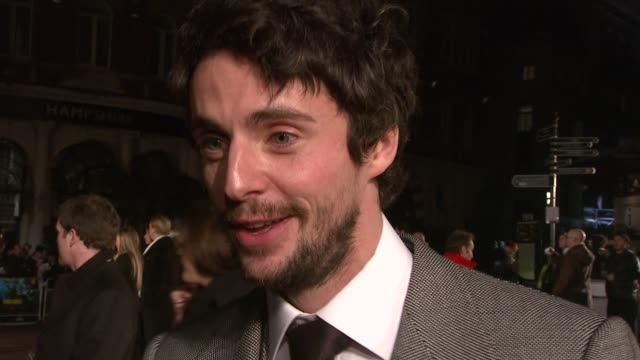 matthew goode on whether he's at all like his character and on not reading the book beforehand at the watchmen world premiere at london - matthew goode stock videos & royalty-free footage