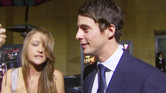 matthew goode talks about his character the mood on set and working with a first time director at the 'the lookout' premiere at the egyptian theatre... - matthew goode stock videos & royalty-free footage