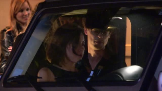 stockvideo's en b-roll-footage met matthew gray gubler & aubrey plaza depart 2013 entertainment weekly pre emmy party in weho at celebrity sightings in los angeles matthew gray gubler... - pre emmy party