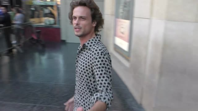 matthew gray gubler outside the spider-man far from home premiere at tcl chinese theatre in hollywood in celebrity sightings in los angeles, - tcl chinese theatre stock videos & royalty-free footage