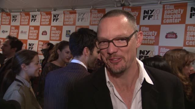 matthew lillard talks about how he teased clooney for being the 'other man' in the film why clooney is so nice at the 'the descendants' 49th annual... - other stock videos & royalty-free footage