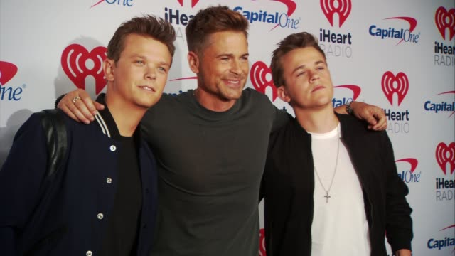 matthew lowe rob lowe john lowe at the 2017 iheartradio music festival day 1 at tmobile arena on september 22 2017 in las vegas nevada - rob lowe stock videos & royalty-free footage