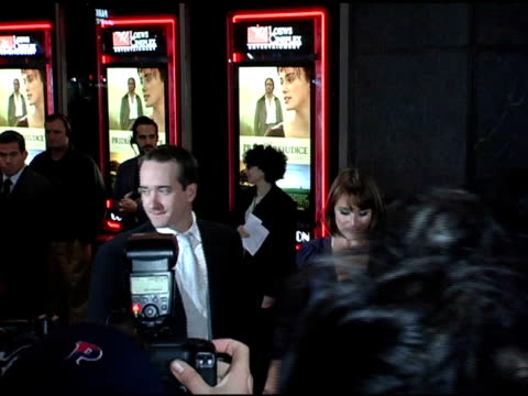 Matthew Macfadyen and Keeley Hawes at the 'Pride and Prejudice' New York Premiere at Loews Lincoln Square in New York New York on November 10 2005