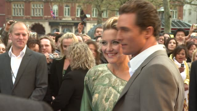 matthew mcconaughey and kate hudson at the 'fool's gold' london premiere on april 10 2008 - kate hudson stock videos & royalty-free footage