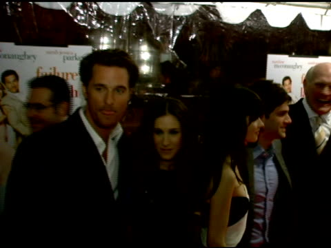 matthew mcconaughey and sarah jessica parker, bradley cooper, terry bradshaw, kathy bates, zooey deschanel and justin bartha at the 'failure to... - terry bradshaw stock videos & royalty-free footage