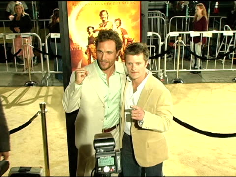 Matthew McConaughey and Steve Zahn at the 'Sahara' Los Angeles Premiere at Grauman's Chinese Theatre in Hollywood California on April 4 2005