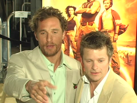 Matthew McConaughey and Steve Zahn at the Sahara Los Angeles Premiere at Graumans Chinese Theatre in Hollywood CA