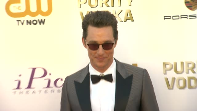 matthew mcconaughey at 19th annual critics' choice movie awards - arrivals at the barker hanger on in santa monica, california. - critics' choice movie awards stock videos & royalty-free footage