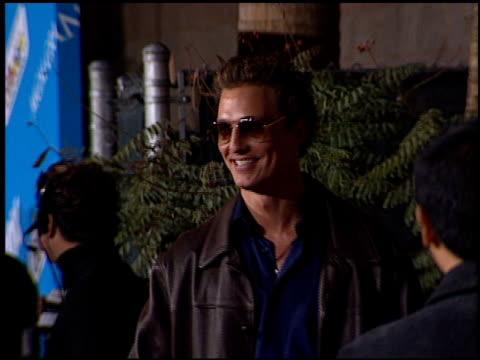 Matthew McConaughey at the 2001 Billboard Music Awards at MGM Grand in Las Vegas Nevada on December 3 2001