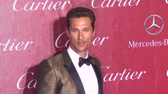 matthew mcconaughey at the 25th annual palm springs international film festival awards gala presented by cartier in palm springs, ca on 1/04/14 - cartier stock videos & royalty-free footage
