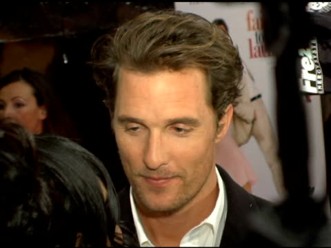 matthew mcconaughey at the 'failure to launch' new york premiere at chelsea west in new york, new york on march 8, 2006. - failure to launch stock videos & royalty-free footage