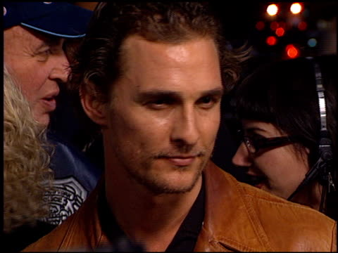 matthew mcconaughey at the 'hart's war' premiere at mann in westwood, california on february 15, 2002. - matthew mcconaughey stock videos & royalty-free footage