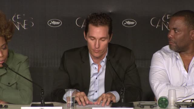 matthew mcconaughey on how he saw his character, his relationship with the other characters at the paperboy press conference: 65th cannes film... - other stock videos & royalty-free footage