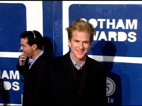 matthew modine at the ifp's 15th annual gotham awards arrivals at pier 60 at chelsea piers in new york, new york on november 30, 2005. - independent feature project video stock e b–roll