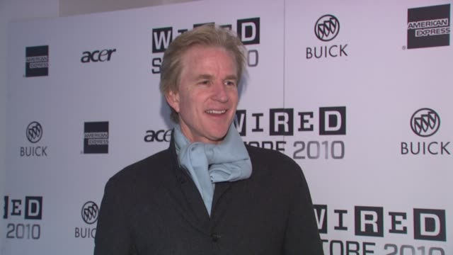 matthew modine at the wired celebrates the 2010 wired store experiential gallery opening in noho at new york ny - l'uomo e la macchina video stock e b–roll
