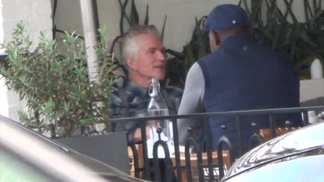Matthew Modine joins Dennis Haysbert for lunch in Los Angeles on January 10 2019 at Celebrity Sightings in Los Angeles