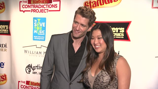 Matthew Morrison and Jenna Ushkowitz at the Starburst Presents Songwriters Music Series To Benefit The VH1 Save The Music Foundation With Matthew...