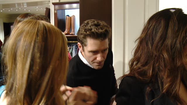 matthew morrison at brooks brothers celebrates the holidays with st jude children's research hospital and town country in los angeles ca - st. jude children's research hospital stock videos and b-roll footage