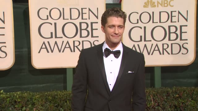 matthew morrison at the 67th annual golden globe awards arrivals part 3 at beverly hills ca - ゴールデングローブ賞点の映像素材/bロール
