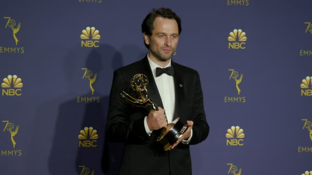 Matthew Rhys at the 70th Emmy Awards Photo Room at Microsoft Theater on September 17 2018 in Los Angeles California