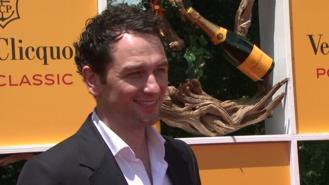 matthew rhys at the fifth annual veuve clicquot polo classic at liberty state park on june 02 2012 in jersey city new jersey - 動物を使うスポーツ点の映像素材/bロール