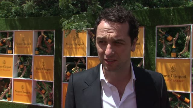 matthew rhys on his appreciation for polo at the fifth annual veuve clicquot polo classic at liberty state park on june 02 2012 in jersey city new... - 動物を使うスポーツ点の映像素材/bロール