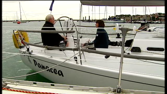 Matthew Sheahan onboard sailing boat with reporter Matthew Sheahan interview SOT Waves at sea