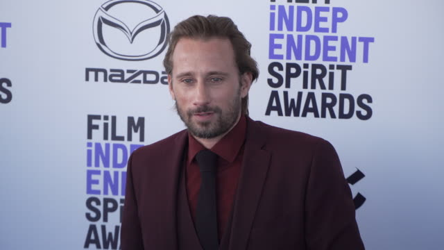 matthias schoenaerts at the 2020 film independent spirit awards on february 08 2020 in santa monica california - film independent spirit awards stock videos & royalty-free footage