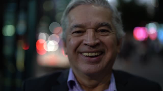 mature business man portrait - spanish and portuguese ethnicity stock videos and b-roll footage