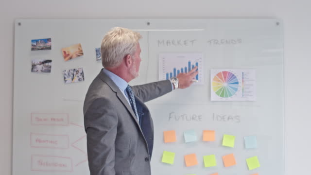 Mature businessman talking in a business meeting