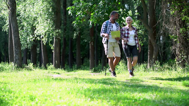 mature couple hiking - active seniors stock videos & royalty-free footage