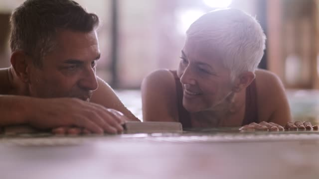 mature couple in hot tub - hot tub stock videos & royalty-free footage