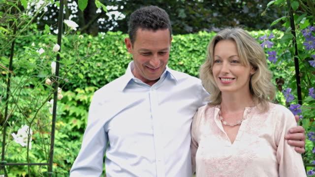 Mature couple under pergola