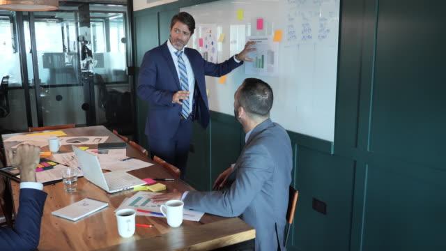 vídeos de stock, filmes e b-roll de empresários latinos maduros que trabalham juntos na sala de reuniões - decisions