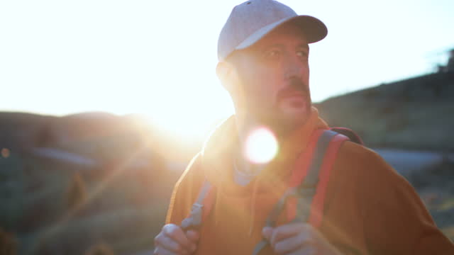 mature man on hiking - cap stock videos & royalty-free footage