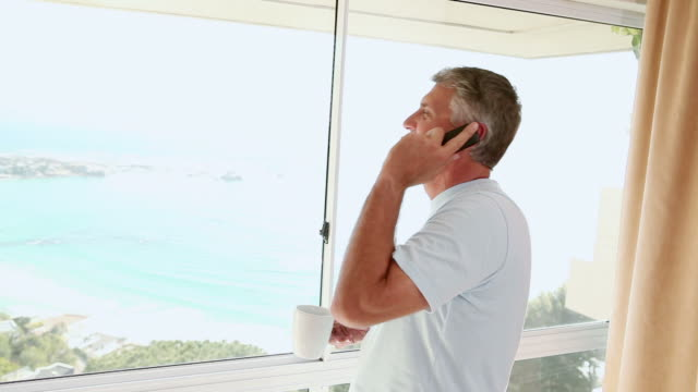 mature man talking on the phone - only mature men stock videos and b-roll footage