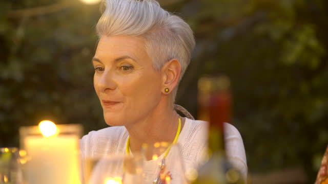 mature woman drinks wine - grey hair stock videos & royalty-free footage