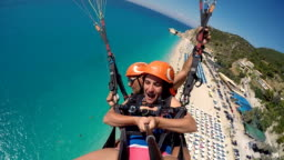 Mature woman first time on paragliding.For excitement is never too late!!
