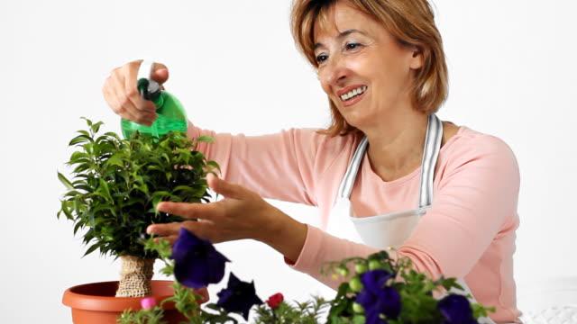 Mature woman florist
