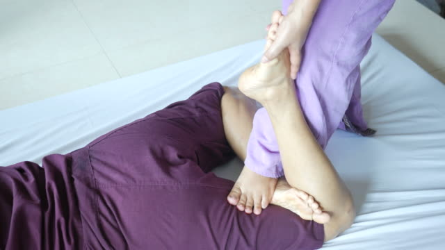 mature woman having relaxing  with thai massage - anti aging stock videos and b-roll footage