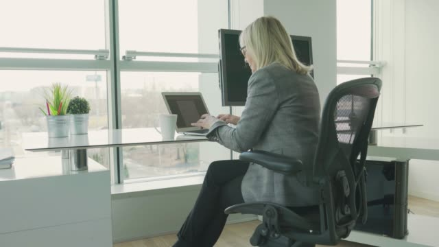 Mature woman in the office