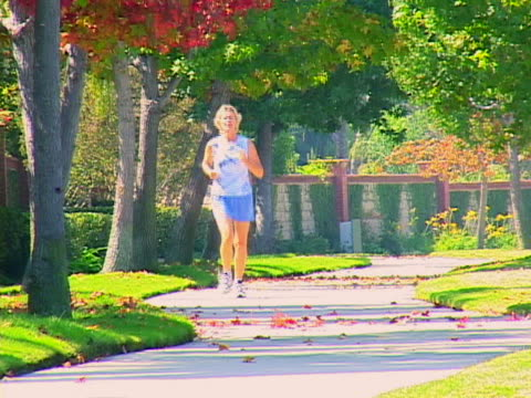mature woman jogging - only mature women stock videos & royalty-free footage