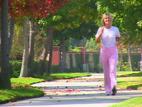 mature woman race walking - only mature women stock videos & royalty-free footage